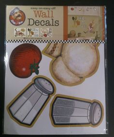 Philadelphia Group easy on and off Wall Decals. Top Chef. NEW in sealed package