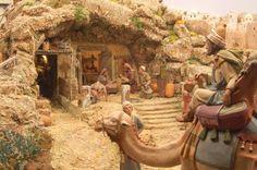 Asociación de Belenistas de Badajoz - Belén 2009-2010 Christmas Nativity Scene, Christmas Villages, Christmas Carol, Christmas Crafts, Christmas Decorations, Stop Motion, Cribs, Painting, Model Building