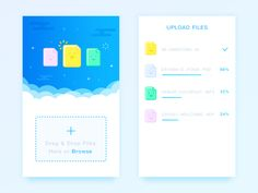 I use cloud disk everyday,It's very useful,They can upload and download files everywhere as long as you have network。So today I try to design a file upload screen,Hope you guys like it ,And big tha...