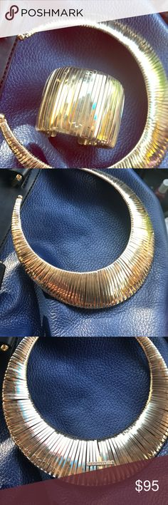 Bcbg gold necklace and bracelet. Selling together BCBV GOLD NECKLACE AND BRACELET. Almost new. Worn one time. Really excellent condition. BCBG Jewelry Necklaces