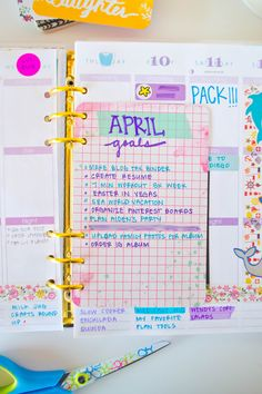 Add a monthly goal card to your planner to help keep you accountable and working towards your goals. #planneraddict @erincondren