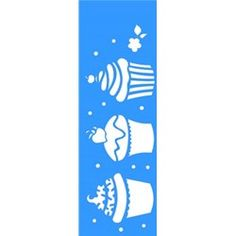 Stencil Doces Cupcakes 10x30 - OPA