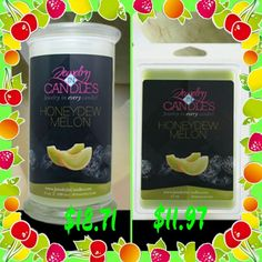 Honeydew Melon is 25% off for the entire month of May! Order yours today at www.jewelryincandles.com/store/ashmarie87