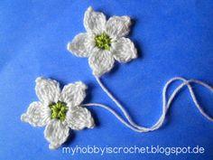 Crochet Flowers Design My hobby is crochet: Crochet Blackberry Flower Free Pattern with written instructions Crochet Motifs, Crochet Flower Patterns, Knit Or Crochet, Knitting Patterns, Ravelry Crochet, Crochet Chart, Pattern Flower, Crochet Diagram, Crochet Bags