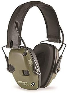 Howard Leight by Honeywell Bilsom Impact Sport Tactical Folding Model Ear Muf. Howard Leight by Honeywell Impact Sport provides a great set of features at a value price. Ear Protection For Shooting, Electronic Ear Muffs, Earmuffs, Headset, Ebay, Green, Classic, Amp