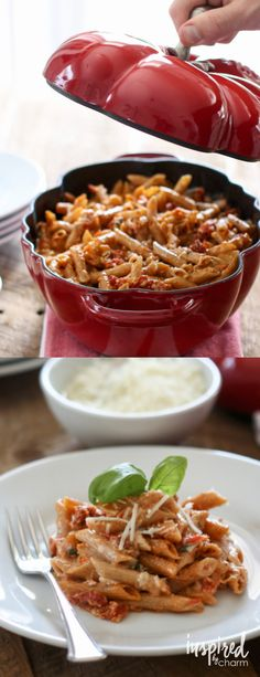 Five Cheese Sun-Dried Tomato Pasta recipe | Inspired by Charm