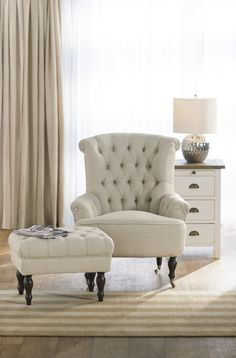 Buy 2 and save on selected occasional chairs! Pictured: Our Lorne button back chair taupe 1st chair $699 get the second for $99
