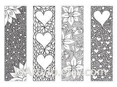 Zentangle+Bookmarks+to+Color