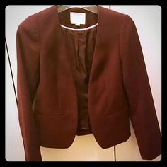 Ann Taylor Loft Petite Blazer Beautiful and in like New Condition Ann Taylor Loft Petite Blazer with 2 buttons on either side of the sleeve, very well made and slim fitting! Only worn once! Ann Taylor Loft Jackets & Coats Blazers