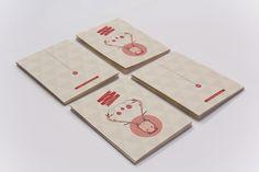 Christmas Cards by Jiani Lu, via Behance