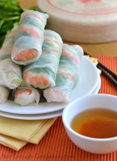 How to make Spring Rolls - Step by Step Recipe (from notenoughcinnamon.com)