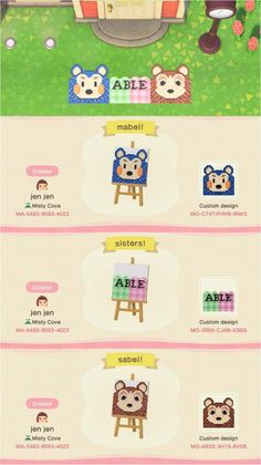 animal crossing new horizons qr code Heres a cute Able Sisters doormat I made if anyone would like the design! Animal Crossing 3ds, Animal Crossing Villagers, Animal Crossing Qr Codes Clothes, Animal Games, My Animal, Pouring Acrylic Paint, Ac New Leaf, Motifs Animal, Island Design