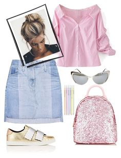 """Shinning!"" by schenonek on Polyvore featuring moda, Fendi, Tom Ford, AG Adriano Goldschmied, Skinnydip y WithChic"
