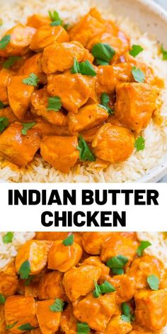 Indian Butter Chicken Indian Butter Chicken — An EASY, ONE-POT recipe for a classic Indian favorite! Juicy, BUTTERY chicken simmered in a CREAMY tomato-based sauce! Next time you're craving Indian food, you can make it yourself in 30 minutes! Bacon Recipes, Turkey Recipes, Cooking Recipes, Healthy Recipes, Easy Recipes, Dinner Recipes, Healthy Food, Chicken Recipes In Hindi, Quick Chicken Recipes