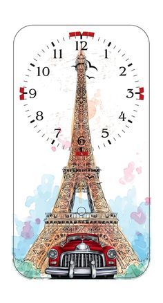 Clock Designs Background Vintage, Paper Background, Clock Face Printable, Coffee Clock, Shabby Chic Clock, Photo Wall Clocks, Handmade Clocks, Paper Napkins For Decoupage, Paris Images