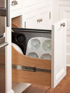 Shenandoah Cabinets Base Tray Divider Pull Out Kitchens