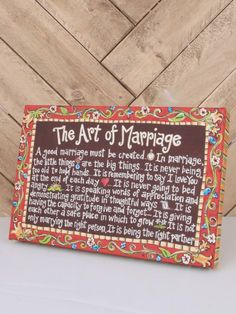 The Art of Marriage Canvas