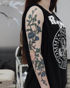 Flower Botanical Sleee Tattoo