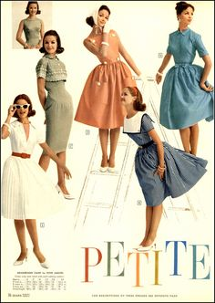 "Elinor Rowley in ""Petite Fashions"" from Sears Spring/Summer collection.1961"