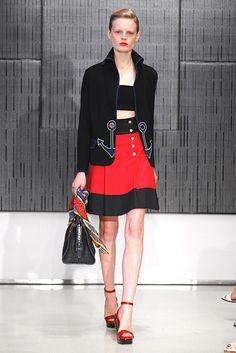 Saint Laurent Resort 2012 Fashion Show - Hanne Gaby Odiele