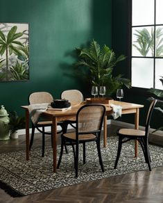Combine elegant rattan furniture with bold art and lush faux greenery to create a tropical style dining retreat sans the humidity. Shop the collection now at Temple & Webster, Australia's online destination for the home Rattan Dining Chairs, Rattan Furniture, Dining Chair Set, Rattan Sofa, Dining Area, Kitchen Dining, Dining Table, Mobile Home Decorating, Coastal Living Rooms