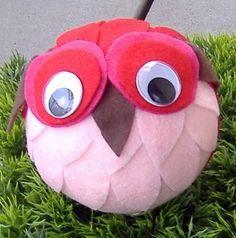 Foam Ball Owl Craft כדור ינשוף