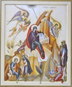 Nativity of Christ, Contemporary icon by George Kordis.