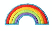 Rainbow Free embroidery design - Embroiderthis