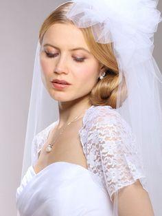 Short Sleeve Lace Bolero for Wedding or Prom - Bridal Jewelry & Wedding Accessories