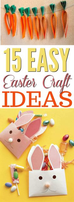 Easy Easter Craft Ideas, DIY and Crafts, If you are looking for some fun and cute Easter craft projects to make this spring, this post is definitely for you! You will not believe how simple t. Holiday Crafts For Kids, Bunny Crafts, Easter Crafts For Kids, Crafts For Teens, Crafts To Do, Easter Ideas, Children Crafts, Washi Tape Crafts, Paper Roll Crafts