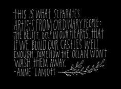 Meet the Artists: Lisa Congdon artists, ann lamott, 499371 pixel, the ocean, lisa congdon, castles, inspir, word, quot