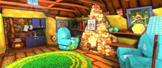 """[Click """"visit"""" to view all resolutions] A classic Banjo Kazooie wallpaper of their house. #Gaming #VideoGames #PCGame #Platformer #Nintendo #Rare #GamesArt #VideoGameArt #Screenshots #WallpaperFusion"""