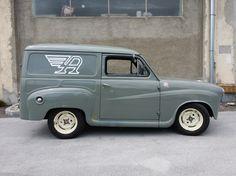 "1963 Austin A35 - ""RACEVAN"" Old Pickup Trucks, Hot Rod Trucks, Austin Cars, Old Commercials, Shooting Brake, Panel Truck, Morris Minor, Creepy Clown, Vintage Vans"