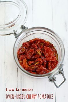 How To Make Oven-Dried Tomatoes. - The Pretty Bee