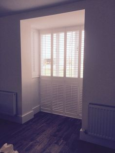 We love this beautiful set of shutters installed this week in a tricky bay window