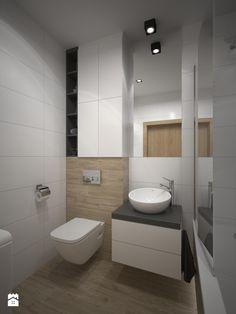 łazienka z drewnem - zdjęcie od ZAWICKA-ID Projektowanie wnętrz