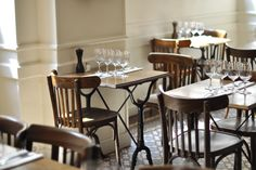 """Visit our web site for more info on """"bistro furniture design"""". It is actually a great spot for more information. Restaurant Concept, Cafe Restaurant, Restaurant Design, Restaurant Interiors, Restaurant Ideas, Restaurant Tables, Cooking With Friends, French Bistro Chairs, Bistro Tables"""