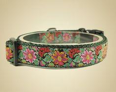 Obroża dla psa Flores de Colores Premium - OssoDiCane - Obroże dla psów