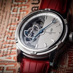 Louis Moinet Mecanograph, one of the best-seller pieces for years - a brand new dial finishing.