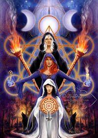 """""""Hécate Trívia Três vezes grande na Feitiçaria Teus caminhos nos levam Ao poder, à cura, à sabedoria! Deusa da Lua Negra Desce teu véu sob..."""