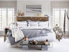 Cozy coastal bedroom ready to keep you warm during the cold nights - Modern Bedroom Modern Master Bedroom, Farmhouse Master Bedroom, Trendy Bedroom, Home Bedroom, Bedroom Furniture, Bedroom Decor, Bedroom Ideas, Summer Bedroom, Bedroom Designs