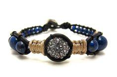 Lapis Lazuli Bracelet by AlexisLjewelry on Etsy, $74.00