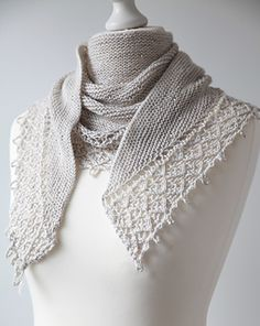 Pearls of Dew... a stunner special occasion shawl....