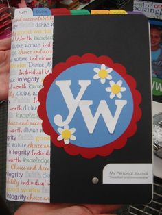 Young Women Personal Progress Notebooks--Love this cute journal cover