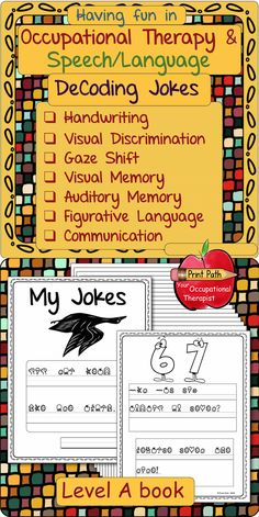 Start your Speech and Language or OT session with a laugh! Engage and motivate your students to practice handwriting. Build your therapeutic relationship through humor, laughter, and connection. Savant Syndrome, Alphabet Code, Social Anxiety Disorder, Pediatric Ot, Visual Memory, Special Education Classroom, Figurative Language, Handwriting Practice, Character Education