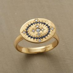 "Ring | Adel Chefridi. ""Layla"". 18k gold, diamonds and sapphires."