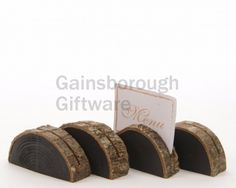 Wood Slice Card Holder, Pack 4 @ gainsboroughgiftware.com Wood Slices, Napkin Rings, Woodland, Packing, Place Card Holders, Christmas, Cards, Bag Packaging, Xmas