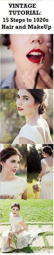 Vintage Wedding Makeup Tutorial : Vintage Bridal Makeup on Pinterest Vintage Wedding ...