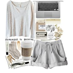 cute pyjama, lazy outfits, college outfits, lazy day outfits for summer Lazy Day Outfits, College Outfits, Summer Outfits, Casual Outfits, Cute Outfits, College Wear, Fashionable Outfits, Summer Shorts, School Outfits