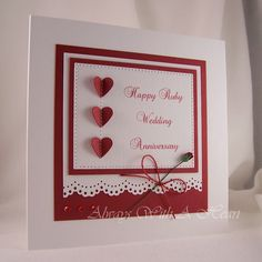 105 Best Anniversary Cards Images Card Ideas Handmade Cards 50th